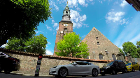 Catholic temple in Copenhagen. Denmark. Shot in 4K (ultra-high definition (UHD)) Live Action