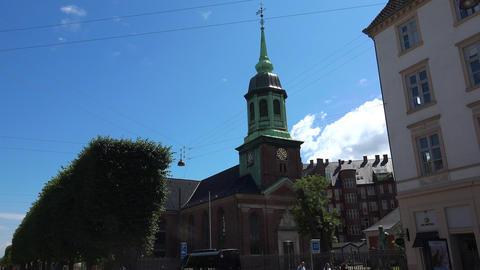 Christian Church in Copenhagen. Denmark. Shot in 4K (ultra-high definition Live Action