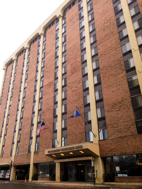 Brick facade of The Madison Concourse Hotel and Governor's Club in Madison, WI Photo