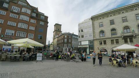 Gammeltorv Square. Old Square. Copenhagen. Denmark. 4K Stock Video Footage