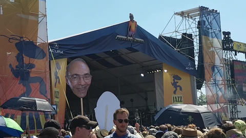 New Orleans Jazz and Heritage Festival Crowd Enjoying Live Band Footage