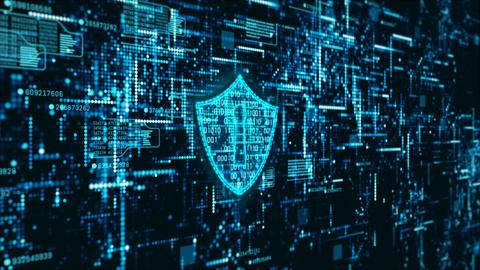 Hi-Tech digital cyber security 00190 Stock Video Footage