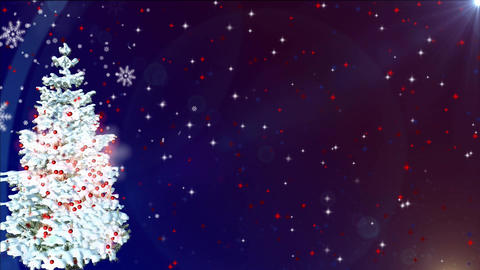 christmas tree snowfall Stock Video Footage