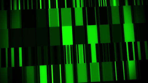 Green Digital Neon Lines & Squares VJ Loop Motion Background Animation