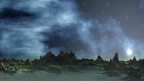 Sunset on the Star Fog Background Animation