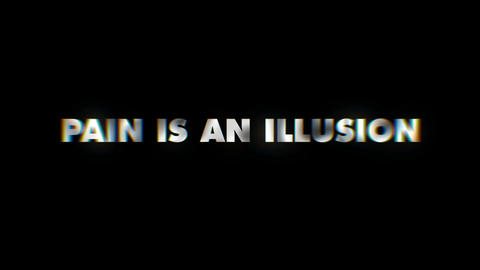 Pain is an illusion - text animation typeface slogan motion background Footage
