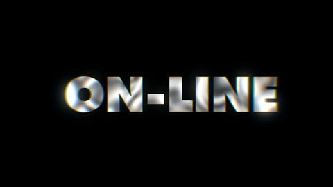 Online - text animation motion typographics art visual vj clip Live Action