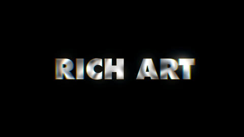 Rich art - text animation motion typographics art visual vj clip Footage