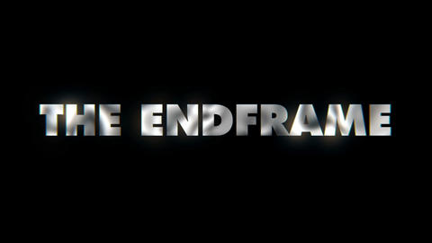 The Endframe - word animated text motion typographics slogan typeface vj loop Live Action