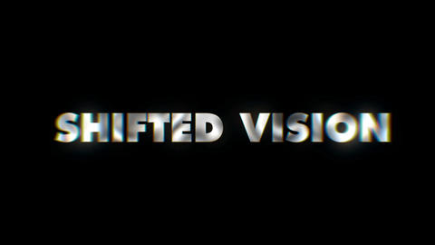 Shifted vision - text animation motion typographics art visual vj clip Live Action