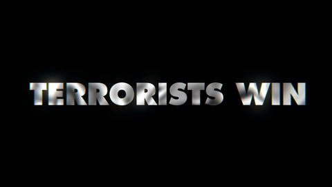 Terrorists win - text animation motion typographics art visual vj clip Live Action