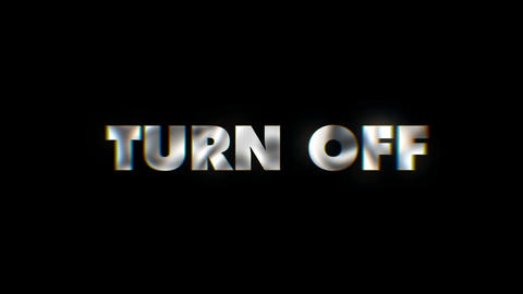 Turn off - text animation motion typographics art visual vj clip Live Action