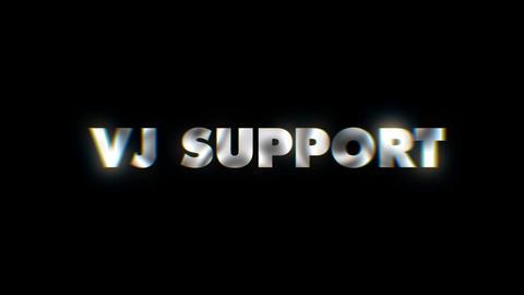 VJ Support - Key word animated typographics slogan typeface vj loop Live Action