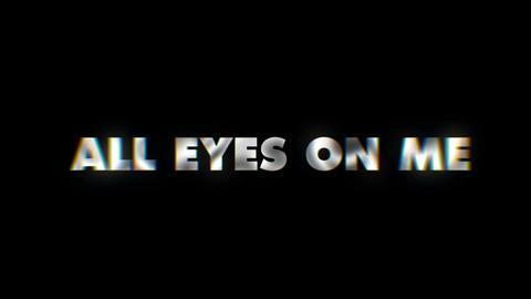 All eyes on me - text animation motion typographics art visual vj clip Live Action