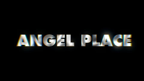Angel place - text animation motion typographics art visual vj clip Live Action