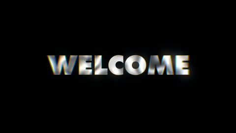 Welcome - text animation motion typographics art visual vj clip Live Action