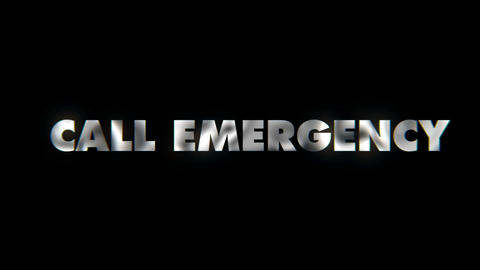 Call emergency - text animation motion typographics art visual vj clip Live Action