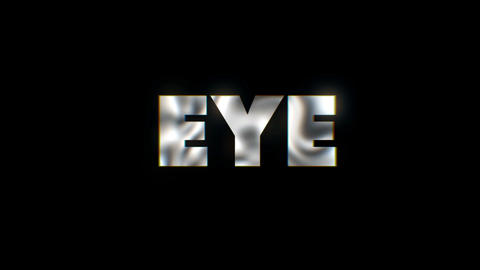Eye - text animation motion typographics art visual vj clip Live Action