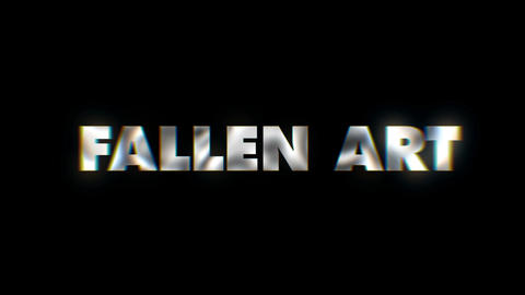 Fallen art - text animation motion typographics art visual vj clip Footage