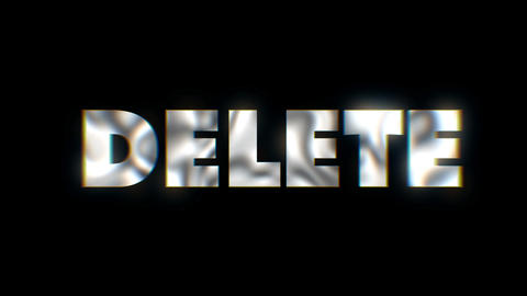 Delete - text animation motion typographics art visual vj clip Live Action