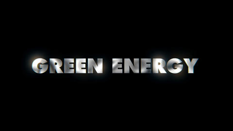 Green energy - word animated text motion typographics slogan typeface vj loop Live Action
