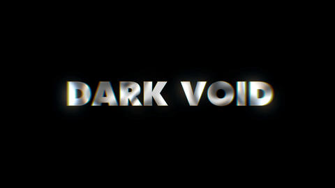 Dark void - text animation motion typographics art visual vj clip Live Action