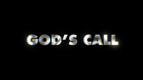 Gods call - text animation motion typographics art visual vj clip Live Action