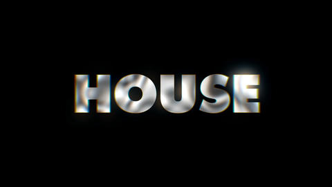 House - text animation motion typographics art visual vj clip Live Action