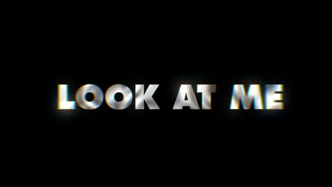 Look at me - text animation motion typographics art visual vj clip Live Action