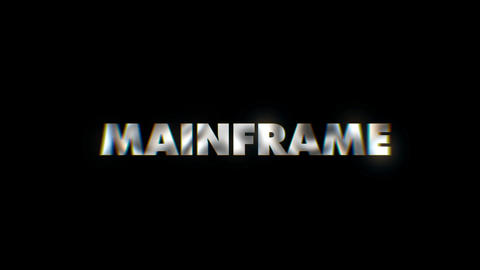 Main Frame - text animation motion typographics art visual vj clip Live Action
