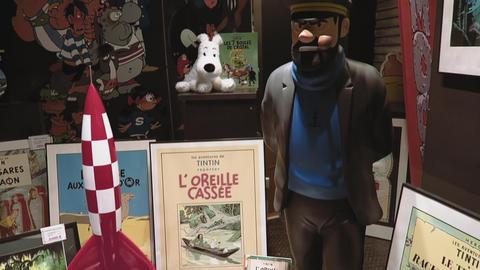 Brussels, Belgium Moof comic museum pre entrance atrium Live Action
