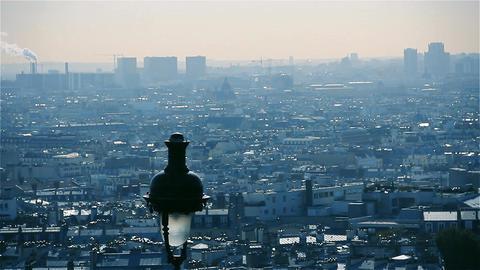 Paris View From Sacre-Coeur Basilica (France) Footage