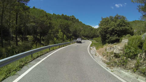 Сar driving on mountain serpentine Footage