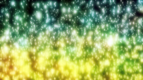 Shiny Sparke Yellow Green Rain Falling Background Animation