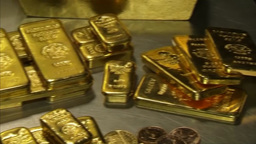 Gold bullion collection Footage