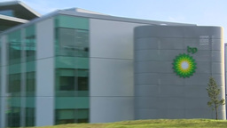 BP Headquarters Zoom Out stock footage