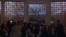 PEOPLE IN SISTINE CHAPEL POPE HOUSE VATICAN Footage