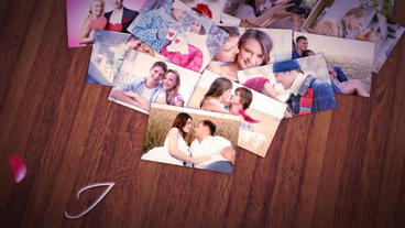 The heart of photos After Effects Template