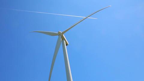 Wind generator on sky background Footage