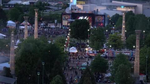 Big music festival at Olympic Park Atlanta - ATLANTA / GEORGIA - APRIL 22, 2016 Live Action