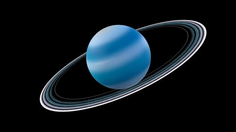 The solar system-Uranus Animation