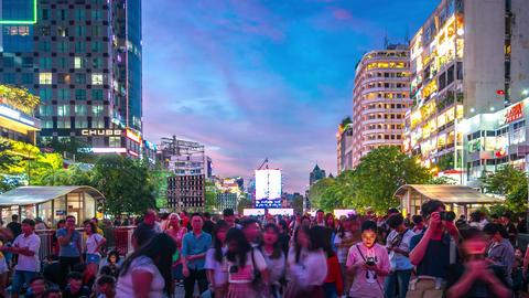 Nguyen Hue Walking Street Time Lapse Live Action