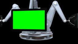 Mechanical arms with tv screens Animation
