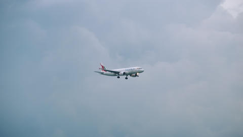Passenger airplane approaching Live Action