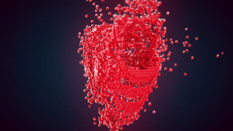 Heart shape generated from voxels Animation