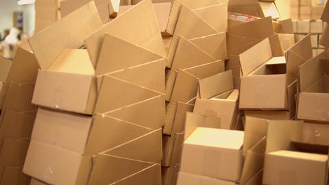 warehouse with packing material Live Action