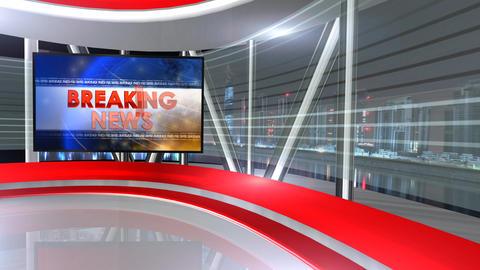 Breaking news virtualset 2 Animation