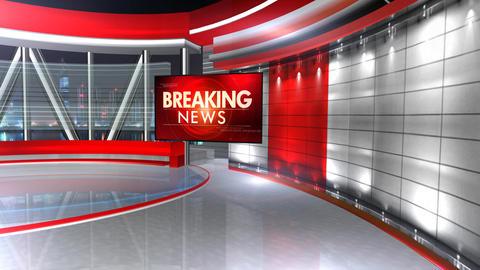 Breaking news virtualset 3 Animation