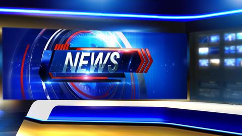 News Virtual set close Animation