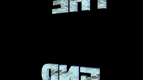 The End, 3d lettering animation, animated outro with exploding letters, silver Animation